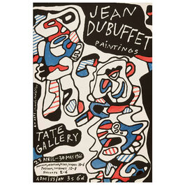 Jean Dubuffet: Paintings vintage poster