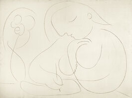 Pablo Picasso: Woman with Flower Writing