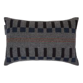 Eleanor Pritchard grey block cushion