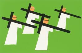 Nicholas Monro: Figure with Crosses