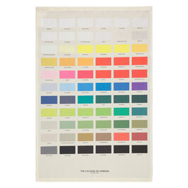 The Colours of London tea towel