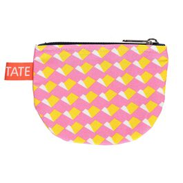 Laura Spring geometric pink and yellow purse