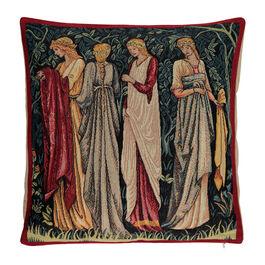 Burne-Jones Ladies of Camelot cushion cover