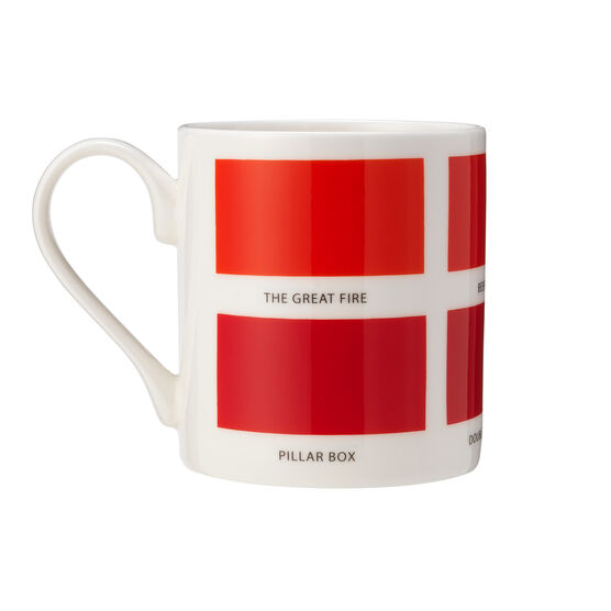 The Colours of London red mug back