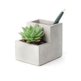 Small Concrete Desktop Planter