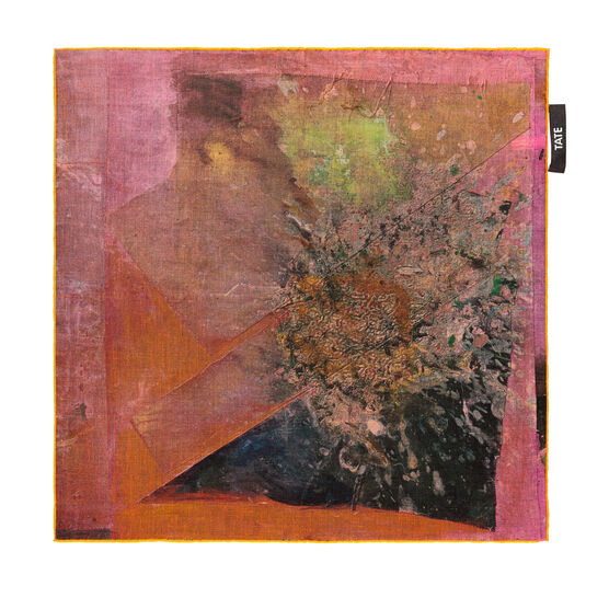 Frank Bowling Madambutterly limited edition pocket square