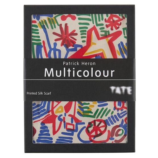 Patrick Heron Multicolour silk scarf