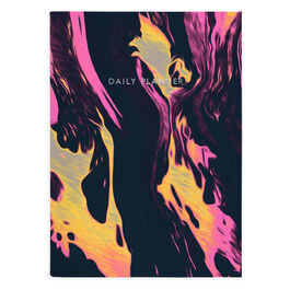 Pink marble day planner notebook