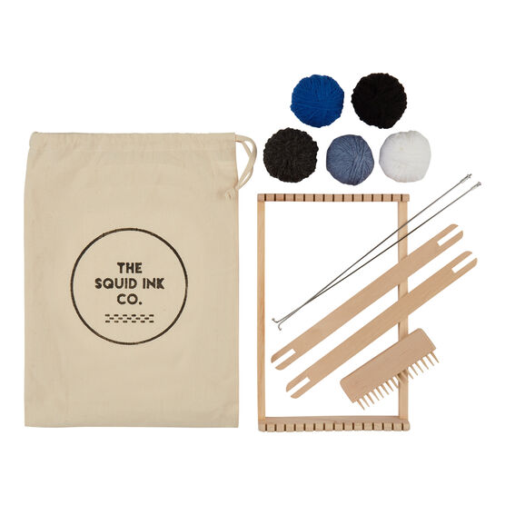 Beginners blue weaving kit