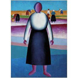 Malevich: Harvesting. Study for a Painting