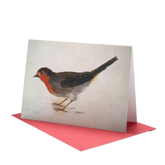 J.M.W. Turner: Robin Redbreast Christmas card