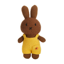Nina crochet toy with yellow dungarees
