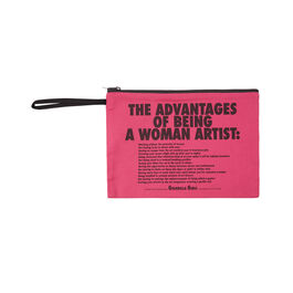 Guerrilla Girls The Advantages Of Being a Woman Artist clutch bag