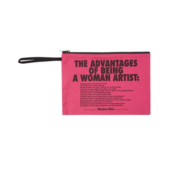 Guerrilla Girls The Advantages Of Being a Woman Artist clutch bag