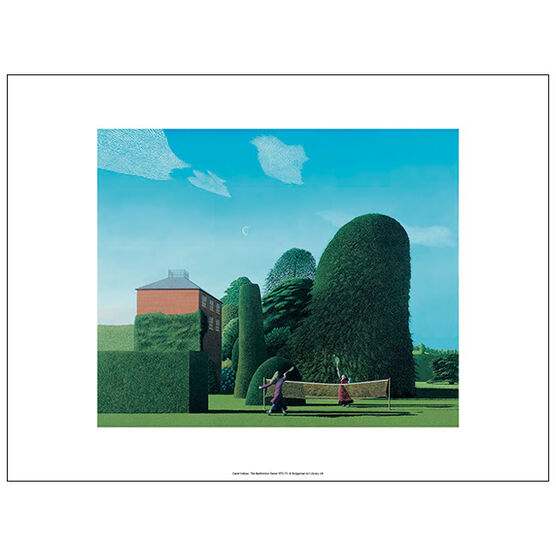 David Inshaw The Badminton Game (unframed print)