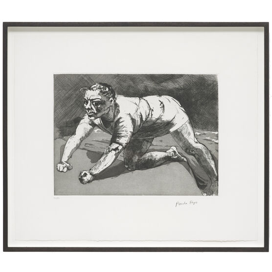 Paula Rego, Wary (Dog Woman), 1994/2020 (framed)
