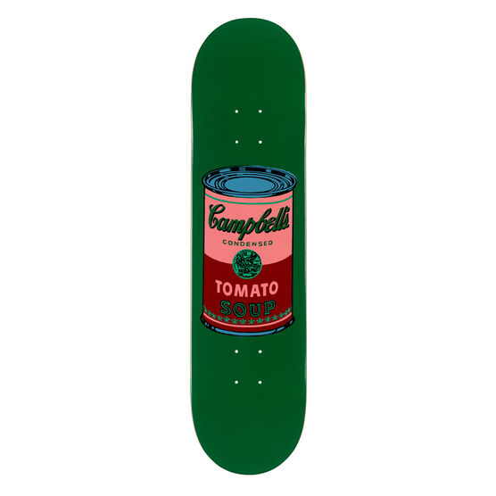 Warhol: Campbell's Soup Can skateboard - green