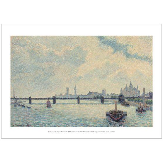 Pissarro Charing Cross Bridge, London (poster)