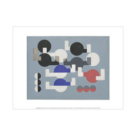Sophie Taeuber-Arp Composition of Circles and Overlapping Angles exhibition art print