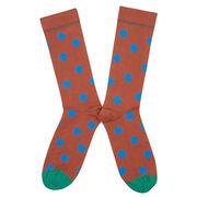 Bonne Maison brown polka dot socks