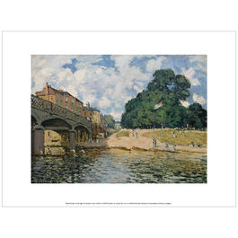 Sisley The Bridge at Hampton Court (exhibition print)