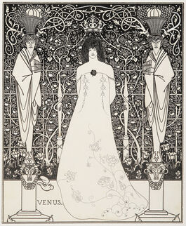 Aubrey Beardsley: Venus between Terminal Gods