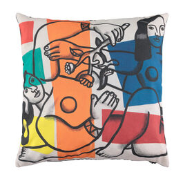 Léger Two Women Holding Flowers cushion cover
