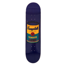 Warhol: Campbell's Soup Can skateboard - dark blue