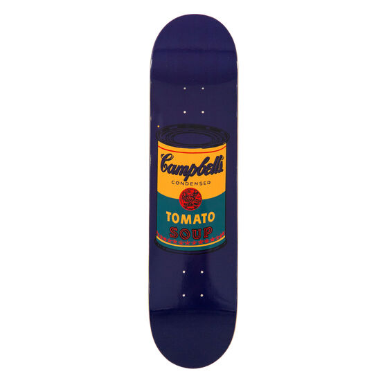 Warhol: Campbell's Soup Can skateboard - dark blue