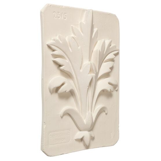 Decorative acanthus plaster cast plaque