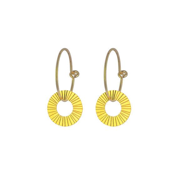 Gold Surfside drop earrings