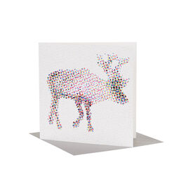 CMYK Reindeer Christmas card (pack of 6)