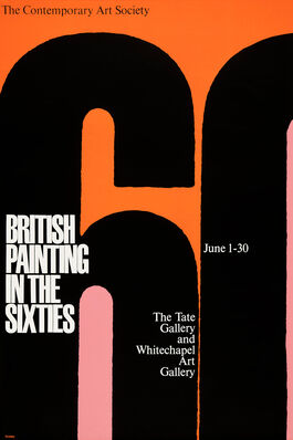 British Painting in the Sixties exhibition poster