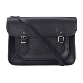 Navy leather Cambridge satchel