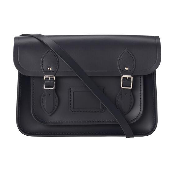 Navy leather Cambridge satchel