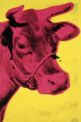 Andy Warhol: Cow (yellow & pink)