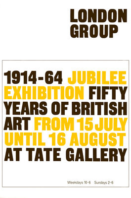 London Group exhibition poster