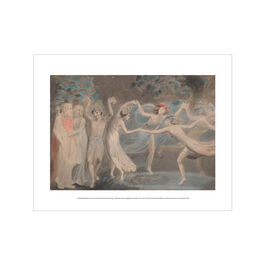 William Blake Oberon, Titania and Puck with Fairies Dancing mini print