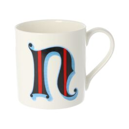 Alphabet of art mug - N