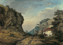 Samuel Hieronymous Grimm: Cresswell Crags, Derbyshire