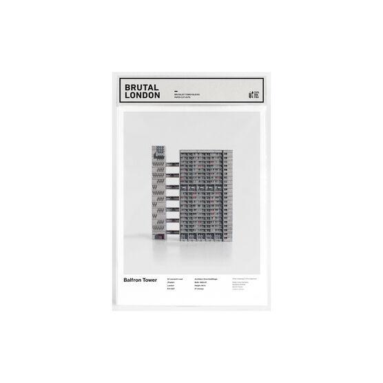 Balfron Tower paper model kit