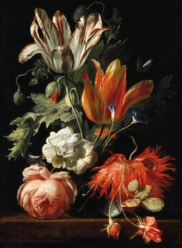 Simon Verelst: A Vase of Flowers