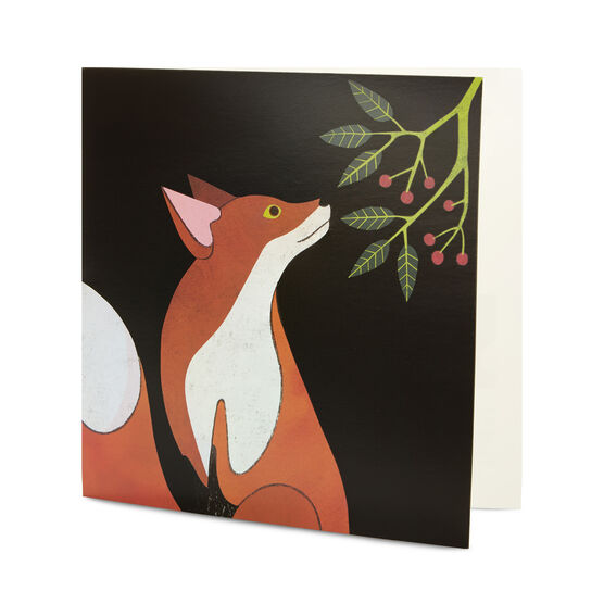 Rachel Hill: Fox in the Night Christmas card (pack of 6)