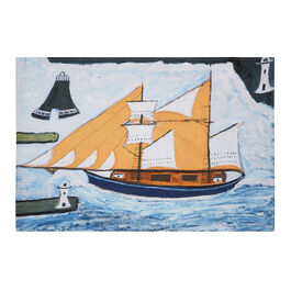 Alfred Wallis Blue Ship tea towel