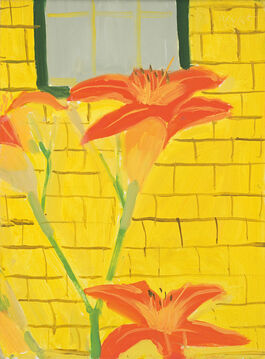 Alex Katz: Lillies Against Yellow House