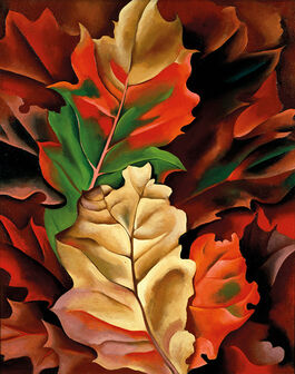 Georgia O'Keeffe: Autumn Leaves - Lake George, N.Y.