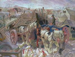 Gilbert Spencer: A Cotswold Farm