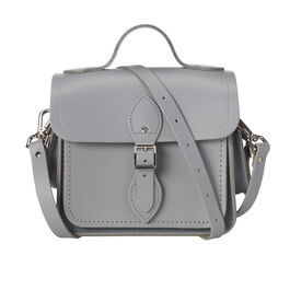 Light grey leather Cambridge camera bag