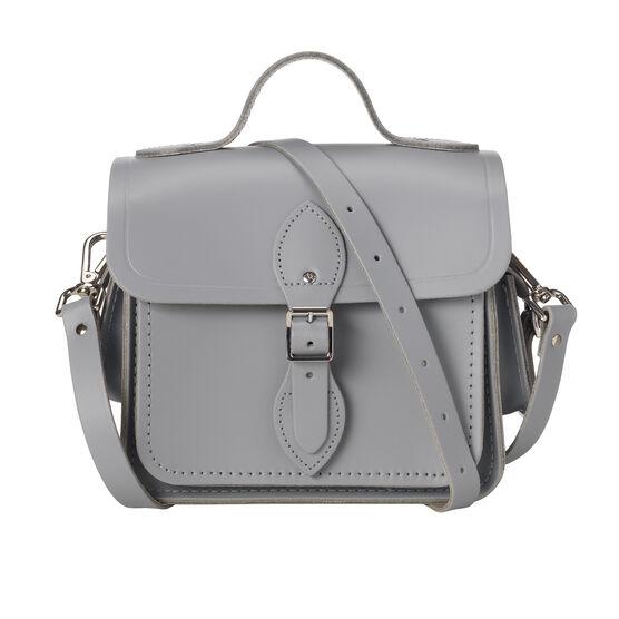 Light grey leather Cambridge camera bag