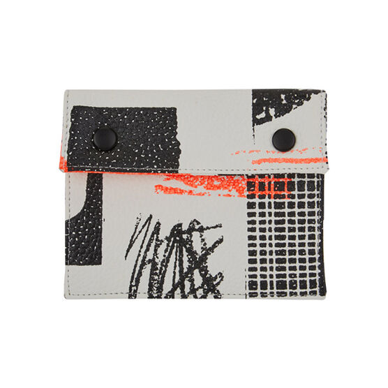 Laura Slater neon leather purse